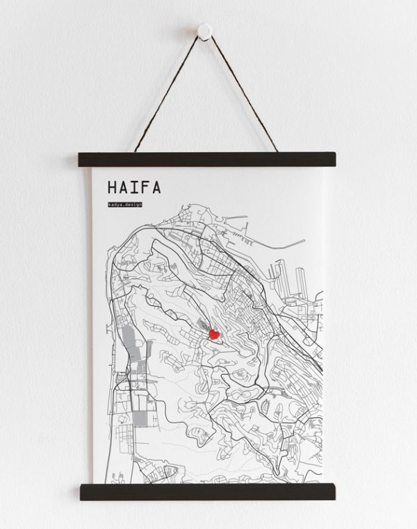 Haifa map-B&W