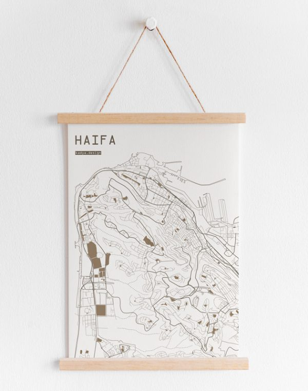 Haifa Map Brown