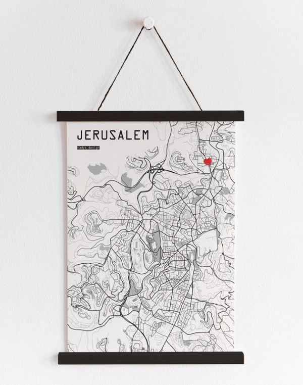 Jerusalem Map-B&W