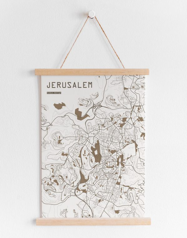 Jerusalem Map-Brown