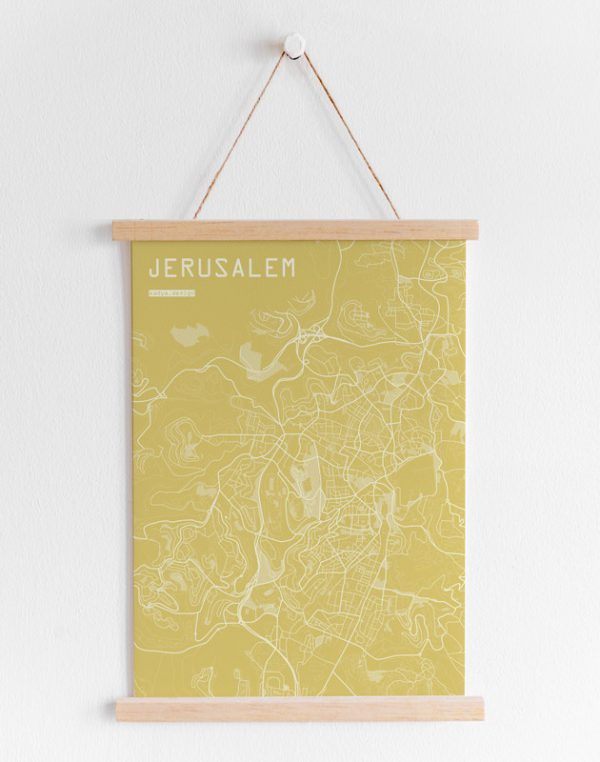 Jerusalem map-yellow