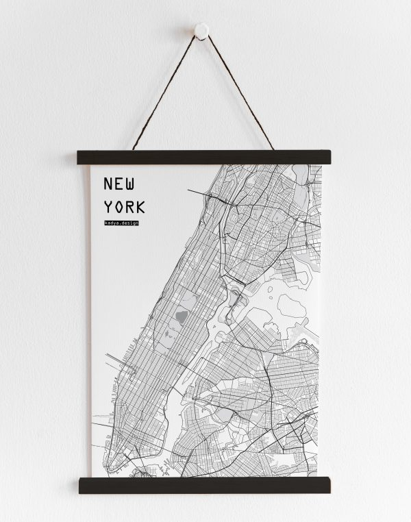 NYC B&W map