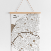 Paris map brown
